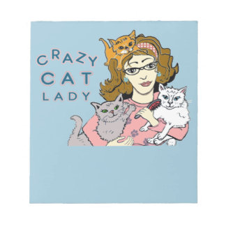 Crazy Cat Lady Notepads