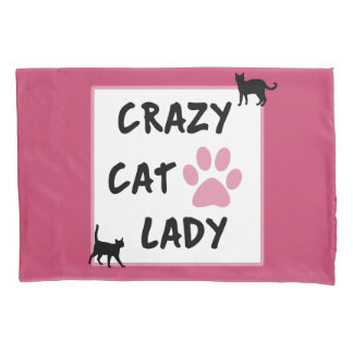 Crazy Cat Lady Pair of Standard Pillowcases