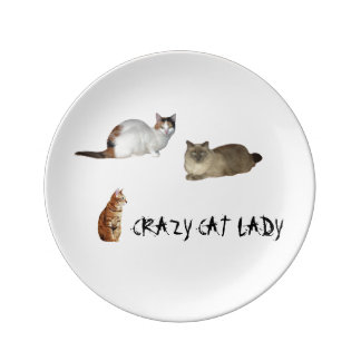 Crazy Cat Lady Plate