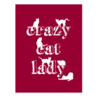 Crazy Cat Lady Postcard