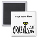 Crazy Cat Lady Square Magnet