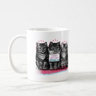 Crazy Cat Lady 'Starter Kit' Cute Kittens Mug