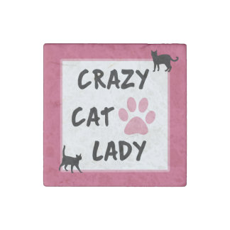 Crazy Cat Lady Stone Magnet