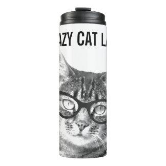 CRAZY CAT LADY thermal tumbler travel mug