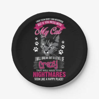 Crazy Cat Paper Plate