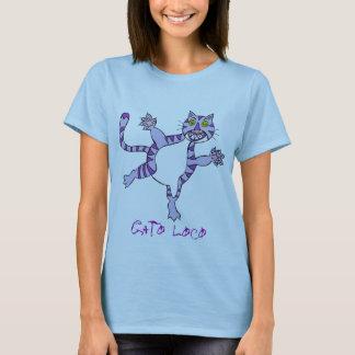 crazy cat purple, Gato Loco, Gato Loco T-Shirt