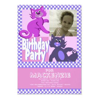 Crazy Cats Birthday Photo Card