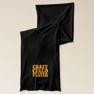 Crazy Cello Player in Gold Scarf