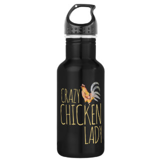 crazy chicken lady 532 ml water bottle