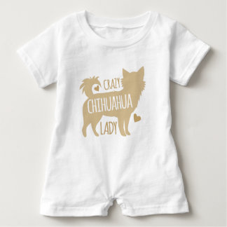 crazy chihuahua lady baby bodysuit