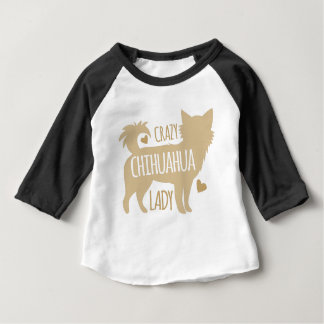 crazy chihuahua lady baby T-Shirt