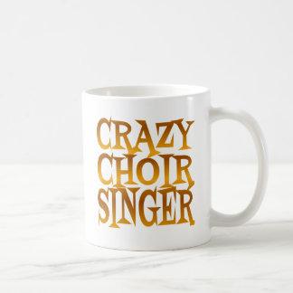 Crazy Choir Singer in Gold Coffee Mug