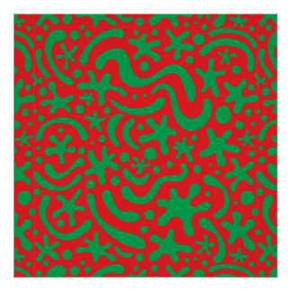 Crazy Christmas Blob and Squiggle Poster