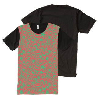 Crazy Christmas Blob & Squiggle All-Over Print T-Shirt