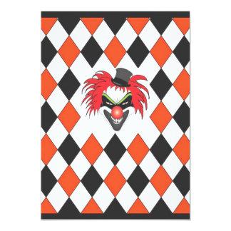 Crazy Clown Halloween Card