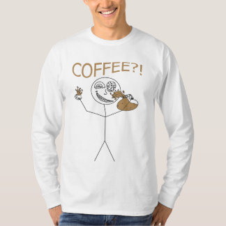 Crazy Coffee Stickman Shirt