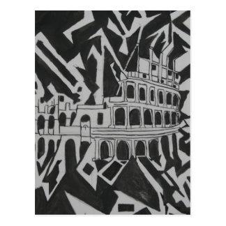 Crazy Coliseum Postcard