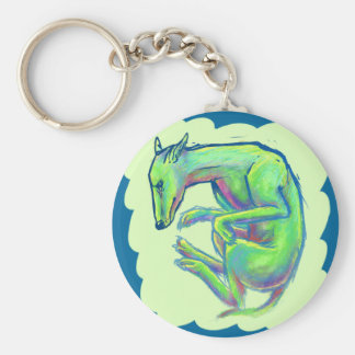 Crazy Color Canine Basic Round Button Key Ring