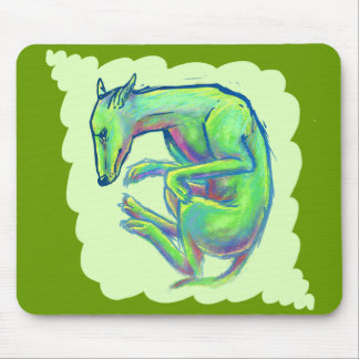 Crazy Color Canine Mouse Pad