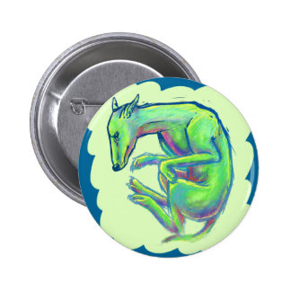 Crazy Color Canine Pinback Buttons