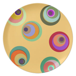Crazy Color Circle Plate