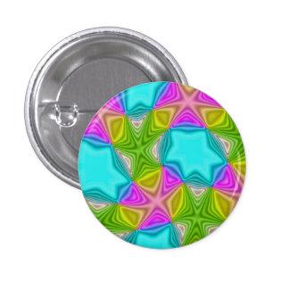 Crazy Color Pattern Pinback Buttons