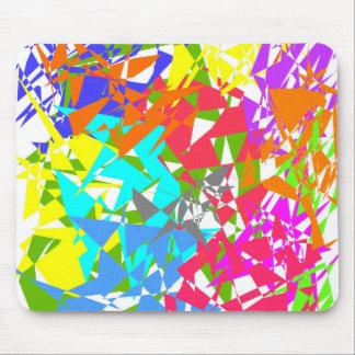 Crazy Color Polygon Texture Mousepad
