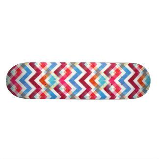 Crazy Colorful Chevron Stripes Zig Zags Pink Blue 21.3 Cm Mini Skateboard Deck