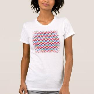 Crazy Colorful Chevron Stripes Zig Zags Pink Blue T Shirts
