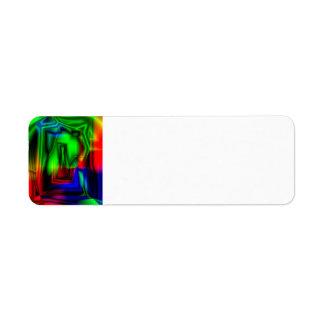 Crazy Colorful Return Address Label