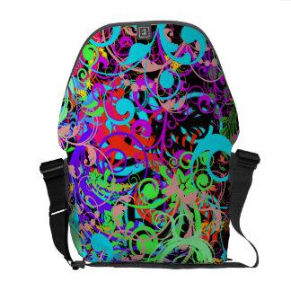 Crazy colorful pattern Rickshaw Messenger Bag