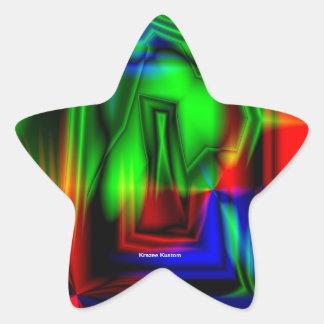 Crazy Colorful Star Sticker