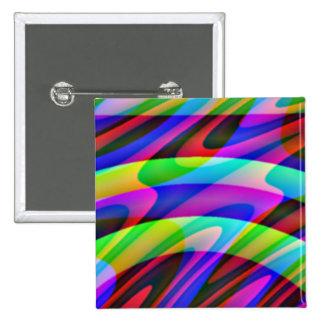 Crazy Colors 1 Pinback Buttons