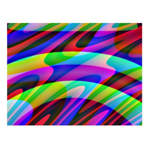 Crazy Colors 1 Postcard