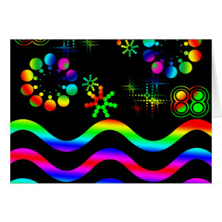 Crazy colors and shapes card