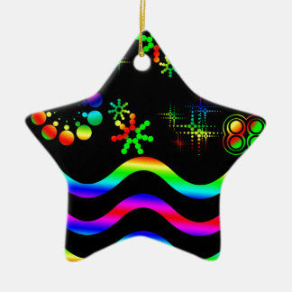 Crazy colors and shapes ceramic star decoration