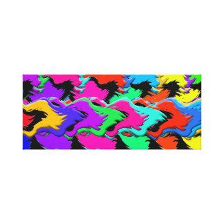Crazy colors canvas stretched canvas print