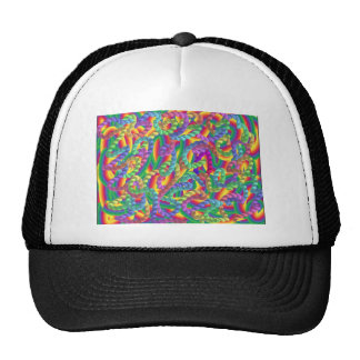 Crazy colors game, neon hat
