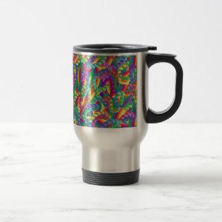 Crazy colors game, neon mug