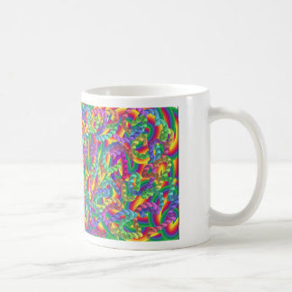 Crazy colors game, neon coffee mugs