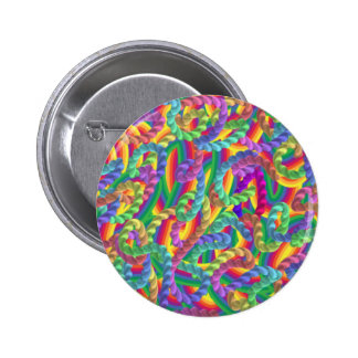 Crazy colors game neon pinback buttons