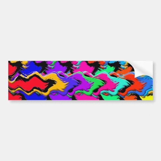 Crazy colors sticker bumper sticker