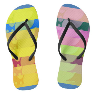 Crazy colors thongs
