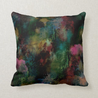 Crazy Colors Throw Pillow