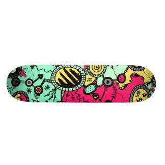 Crazy Colour Doodle Skate Board
