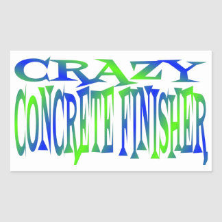 Crazy Concrete Finisher Rectangular Sticker