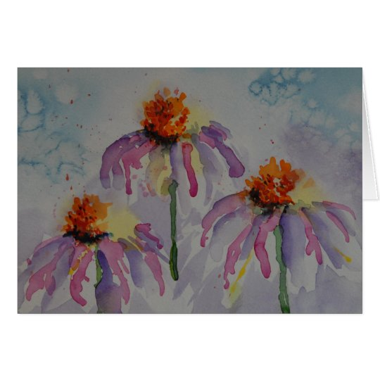Crazy Cone Flower Note Card