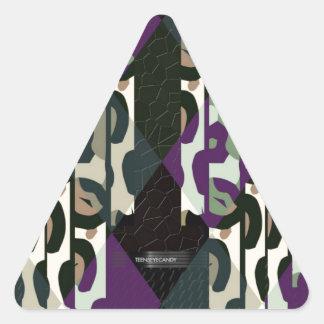 Crazy Cool Cheetah Triangle Pattern Triangle Sticker