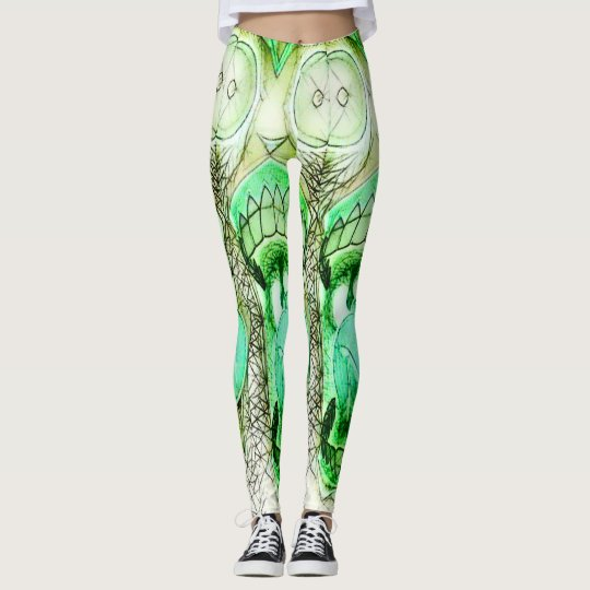 Crazy Cool Psychedelic Rave Party Leggings