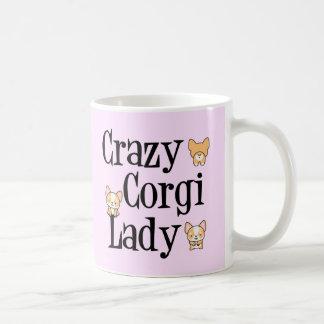 Crazy Corgi Lady Pink Pembroke Coffee Mug